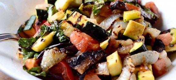 σαλατα με ψητα λαχανικα