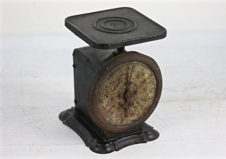 Vintage Scale, Antique Kitchen Scale, Black Scale, Rustic Kitchen Scale, Primitive Scale, Rusty Old Scale, Farmhouse Decor by HuntandFound on Etsy
