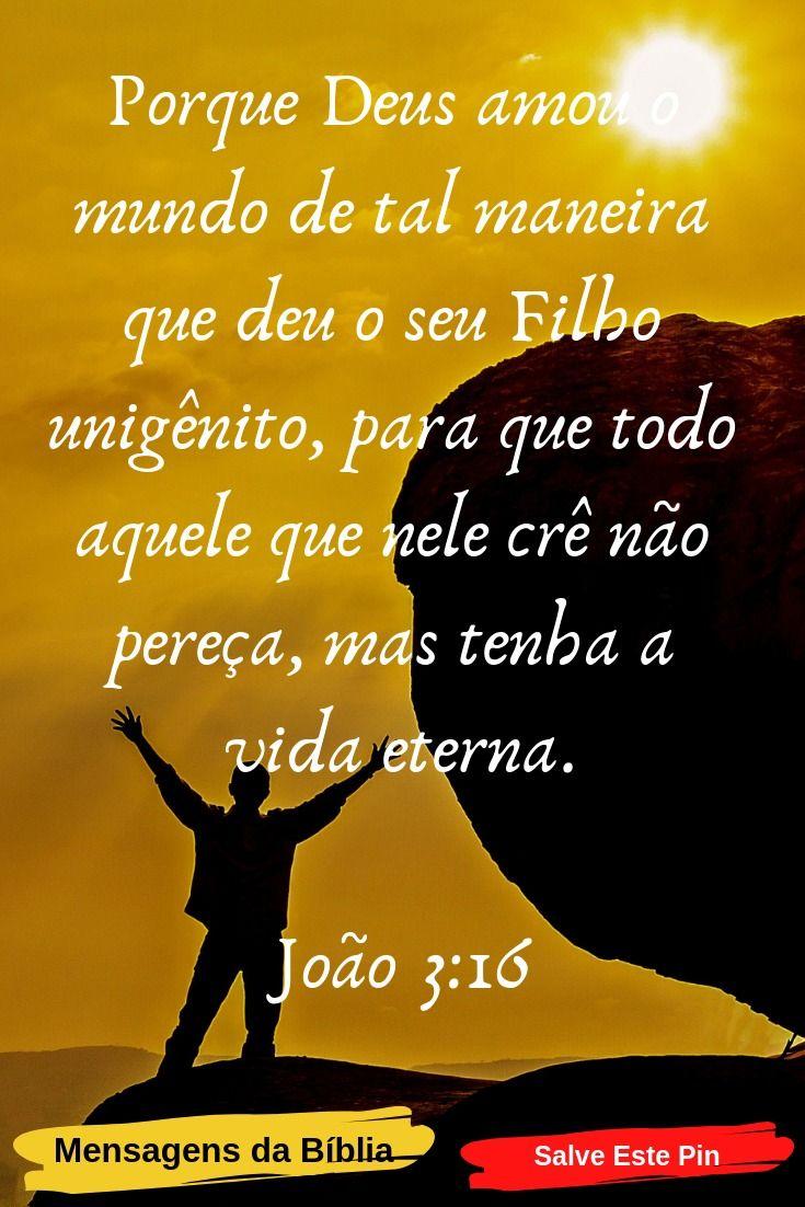 Joao 3 16 Salmo Do Dia Versiculo Do Dia Mensagens