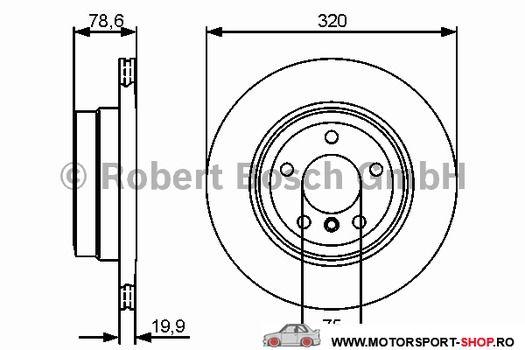 Discuri frana Bosch pentru Bmw X5 E70 3.0D