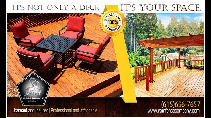 It's not only a  Deck is your space - Ram Fence Company