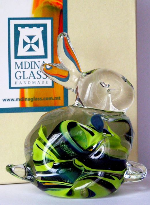 Rabbit from Mdina Glass