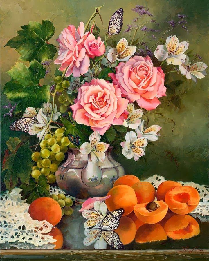 Цветы и фрукты открытки, открытки добрым утром