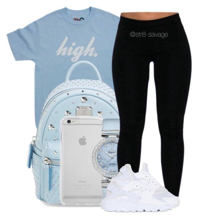"""high"" by str8-savage ❤ liked on Polyvore featuring MCM, OMEGA and NIKE"
