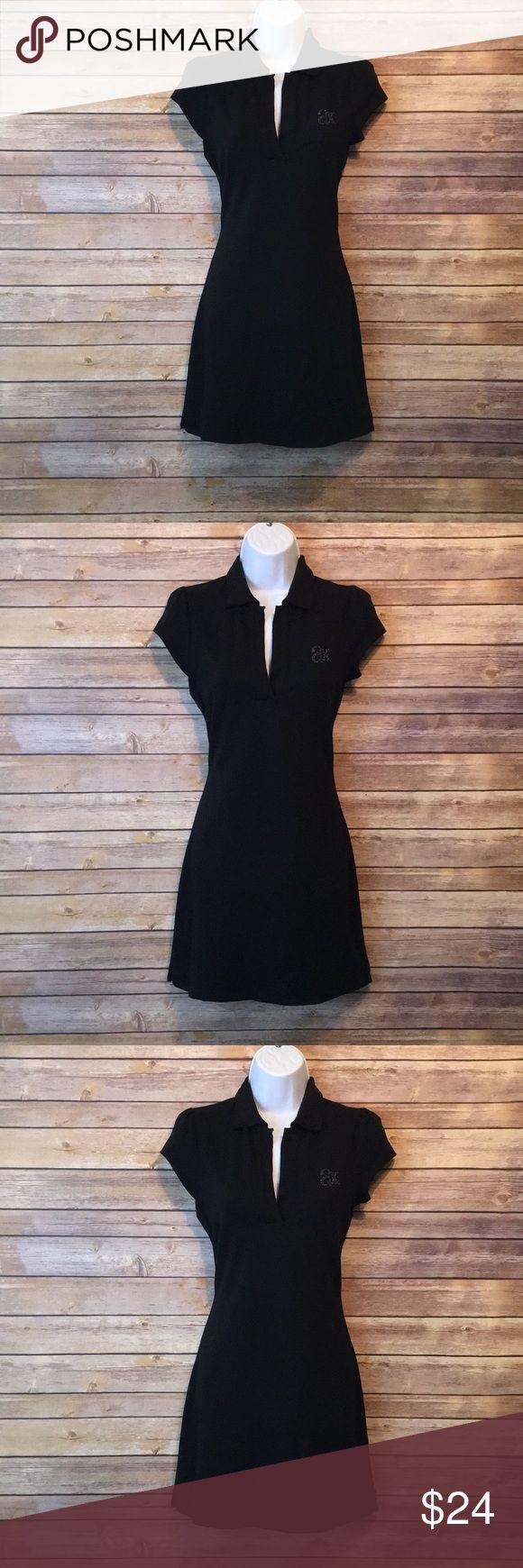 A/X Armani Exchange Women's Deep V-Neck Black A/X Armani Exchange Short sleeve Shirt dress 👗 SZ M Black A/X Armani Exchange Dresses Mini