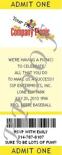 Company Picnic Tickets #corporate #event #partyshelf