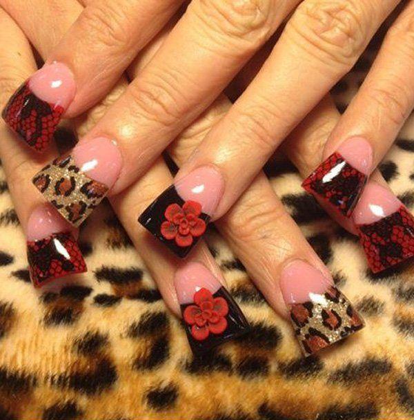 25 best ideas about cheetah nail designs on pinterest