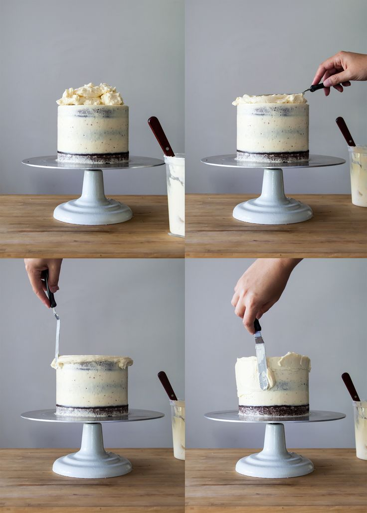 Let's get back to basics and down to business here. Smoothly iced and  structurally sound cakes are the building blocks of almost all decorative  cakes. I am happy to share my years of experience and show how to ice a  cake.  Using the following tips and tricks, you will be well on your to  creating a variety of designs. Today, I will be working with Swiss  Meringue Buttercream.The same techniques will apply when using fudge,  ganache, cream cheese, and any other meringue-based butter...