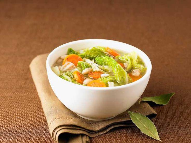 Découvrez la recette Soupe aux choux sur cuisineactuelle.fr.