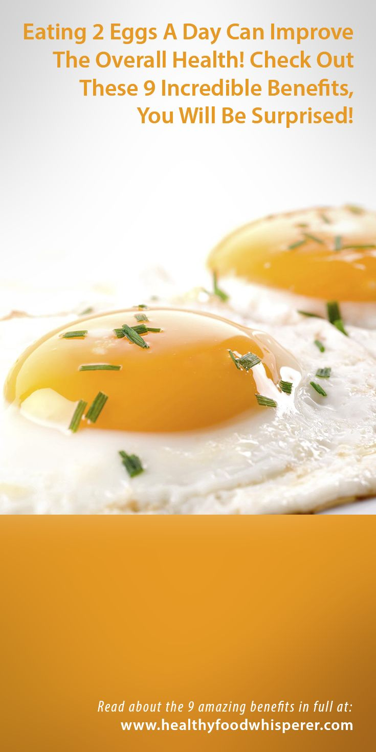 HERE ARE THE 9 BENEFITS OF CONSUMING EGGS DAILY: It lowers the risk of heart problems and heart diseases, Folic acids reduces the risk of birth defects, It slows down the aging process, It reduces the risk of malignant tissue, The consumption of eggs improves the hair, skin and liver, It improves the vision, It helps you lose weight faster, It improves the metabolism and keeps the mind healthy, It increases the bone density and calcium levels