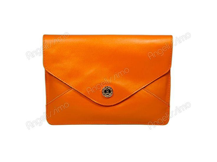 Клатч - конверт рыжий