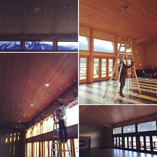 Globe lights setup by @sitkastudios @fraser_river_lodge this past weekend
