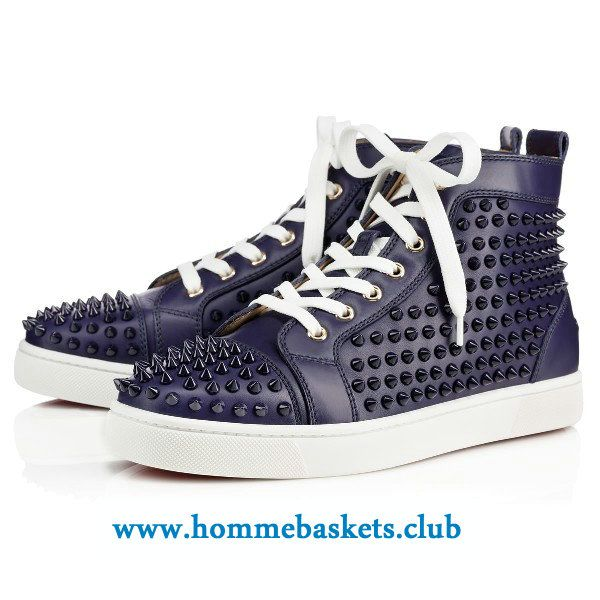plus récent 8d441 43cef Christian Louboutin Homme Louis Calf/Spikes ECLIPSE ...