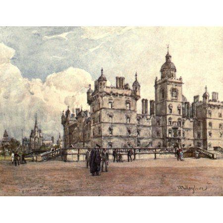 Edinburgh 1904 George Heriots Hospital Canvas Art - John Fulleylove (18 x 24)
