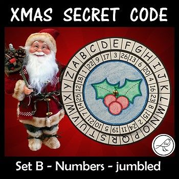 Children love mystery and being a detective! Your students will have so much fun making and using these secret code wheels during the Christmas season. This template has the alphabet on the outer wheel and numbers 1-26 (jumbled) on the inner
