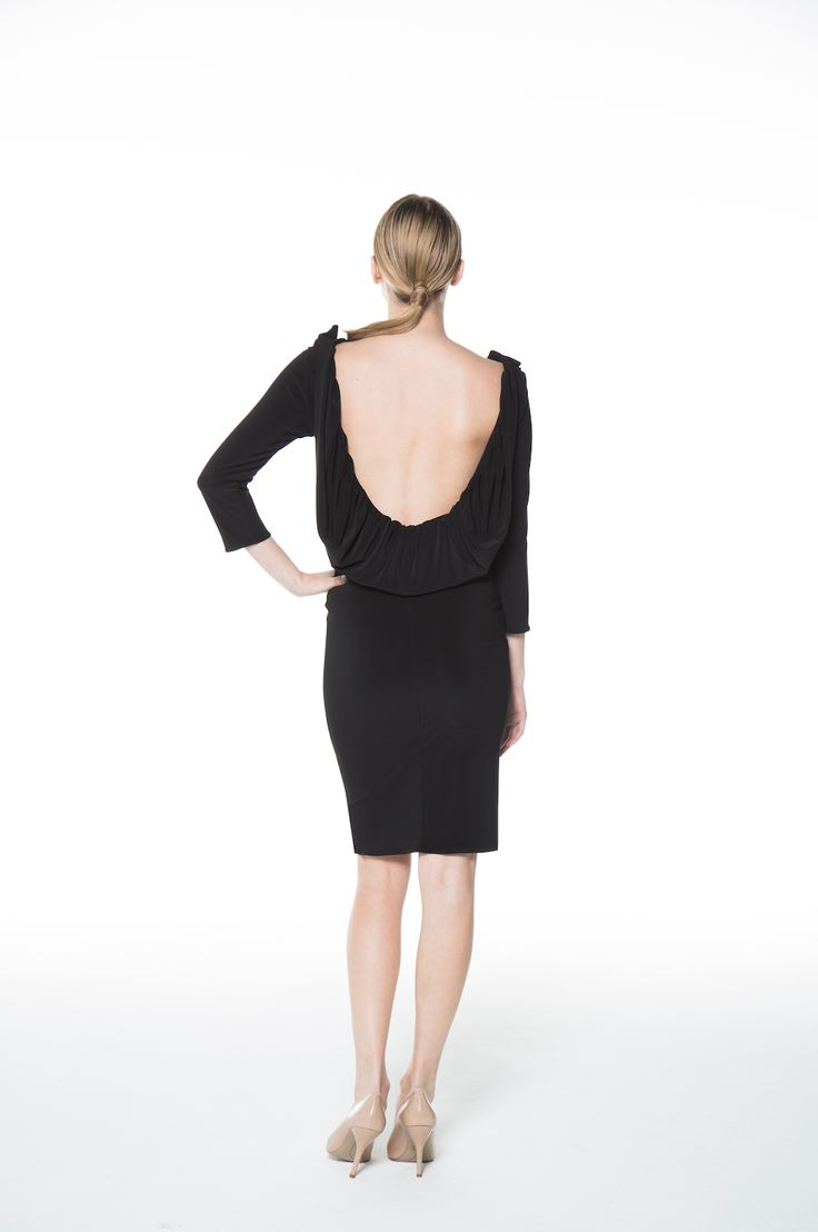 The Drape Back Dress - Show some back in the comfortable dropped back dress!  Made in Canada