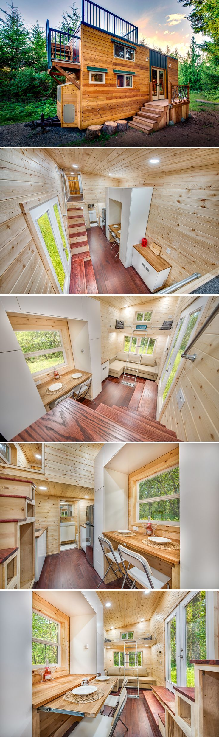 With its large rooftop deck and off-grid capabilities, the Basecamp + Green provides a great way to explore while enjoying the comforts of home.