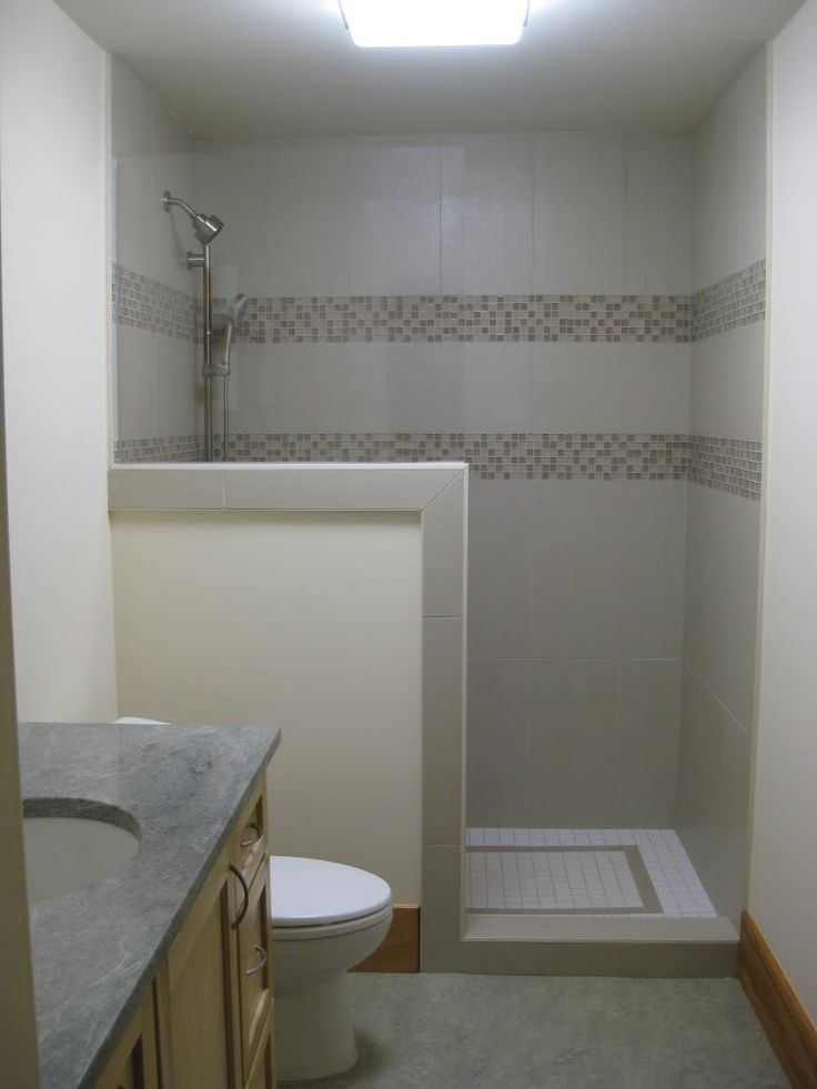 This one is close to your color scheme  Greenwald bath remodel  Showers without doors Small