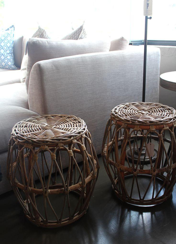 woven footstools