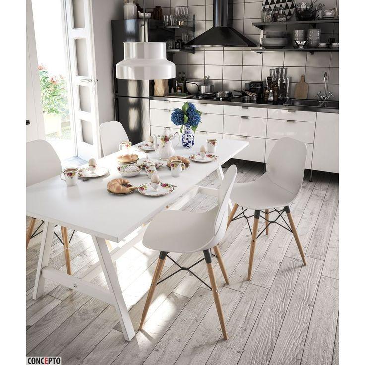 Plastic chair Friend white by Concepto | Стул пластиковый белый Фрэнд от Concepto #concepto #conceptoukraine #conceptocomua #chairs #white #plastic #loft #kitchen #livingroom #restaurant #office #horeca #furniture #modern