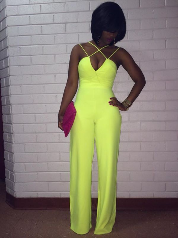 Love The Color Of This Jumpsuit ❤️