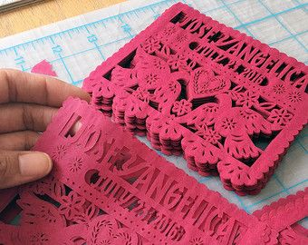 Papel Picado Wedding Invitation Inserts Embellishments   MIXED BRIGHTS    Ready Made