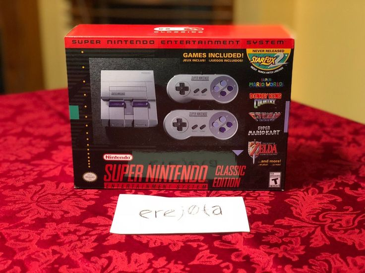 Super Nintendo Entertainment System: Super NES Classic Edition BRAND NEW: $99.99 (0 Bids) End Date: Tuesday Feb-27-2018 18:43:16 PST Buy It…