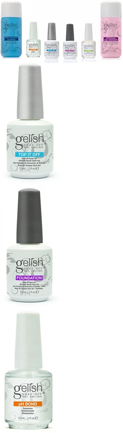 Nail Polish Remover: Gelish Full Size Gel Nail Polish Basix Care Kit (15Ml) + Remover And Cleanser -> BUY IT NOW ONLY: $49.74 on eBay!