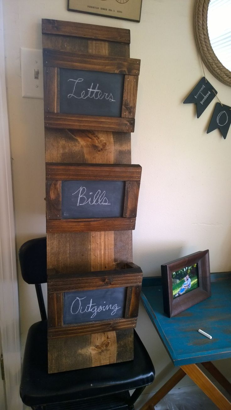 Chalkboard Mail Holder | Do It Yourself Home Projects from Ana White