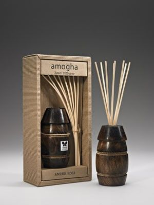 "IRIS-Wooden cask Reed Diffuser  -  with ,8 reed stick of 10"", 100ml and 60ML fragrance oil bottle"