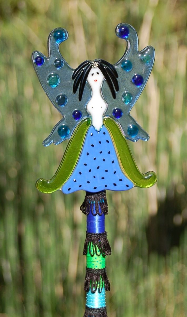 Fused glass yard art - Feng Shui Fairy Fused Glass Knowledge Glass Gardengarden Artfused
