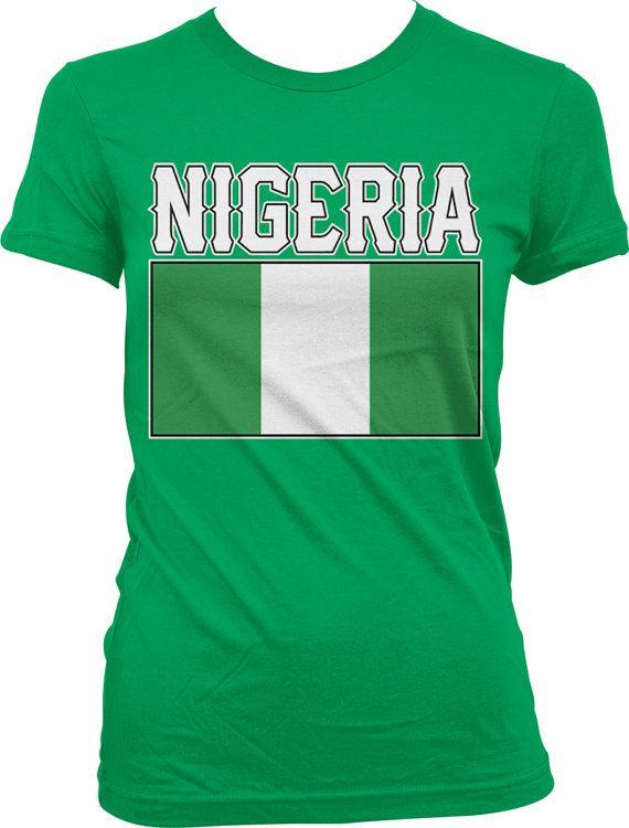 Nigeria Flag Ladies T-shirt Nigerian Flag Federal Republic