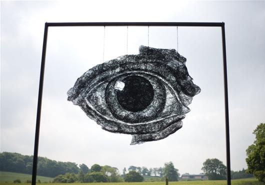 """Yorkshire Sculpture Park - """"Eye"""" - Sophie Ryder"""