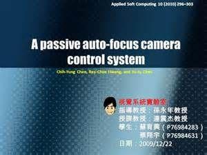 Search A passive autofocus camera control system. Views 12342.