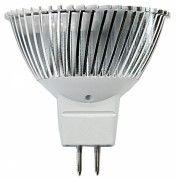Bombilla dicroica LED MR-16 12V con una potencia de 5W y un flujo lumínico de 230 lúmenes Sustituye perfectamente a los halogenos convencionales de 35W.  Con esta bombilla LED tendrá un ahorro del 90%!!  Color blanco frio 6000K o cálido 3000K y una duracion de 50.000H.  Funciona con transformador.  9,95 €