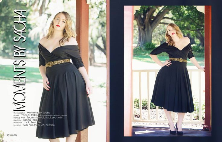 Contribution to Nu mag ... Model wearing our Ebony Dress $299