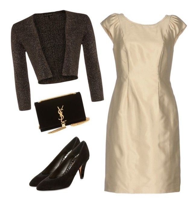 """Cream - brown"" by slavka-cesnek on Polyvore featuring Weekend Max Mara, Phase Eight, Dolce Vita and Yves Saint Laurent"