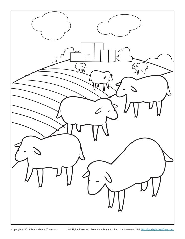 lost sheep bible coloring page