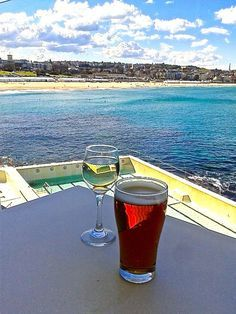 Have a drink overlooking Bondi Beach in Sydney, Australia
