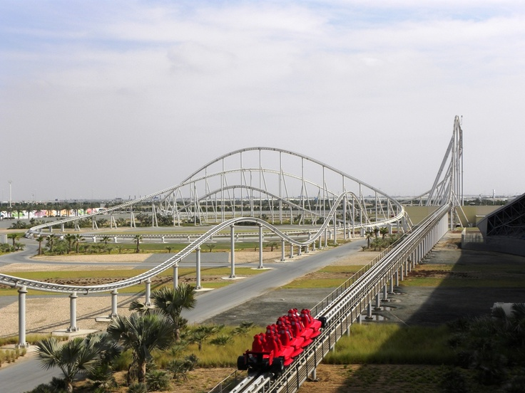 Formula Rossa. Fastest roller coaster at 240 mph. Sounds like fun.