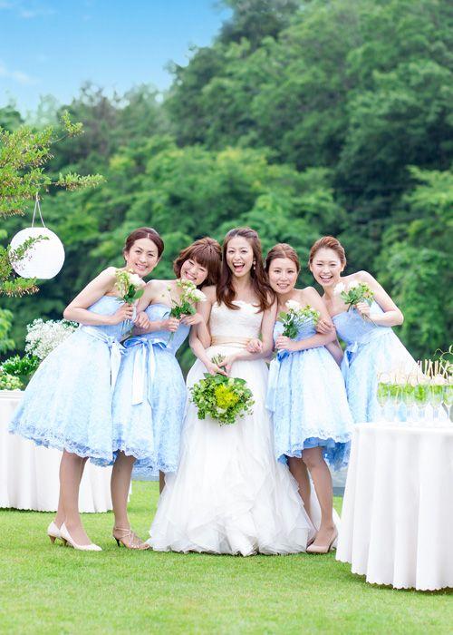 #NOVARESE #wedding #weddingdress #bride's maid #blue #green #ノバレーゼ #ウエディング #ウエディングドレス #ブライズメイド #ブルー #グリーン