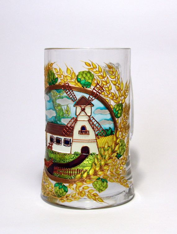 Jarra de cerveza  mancha personalizada cristal  molino