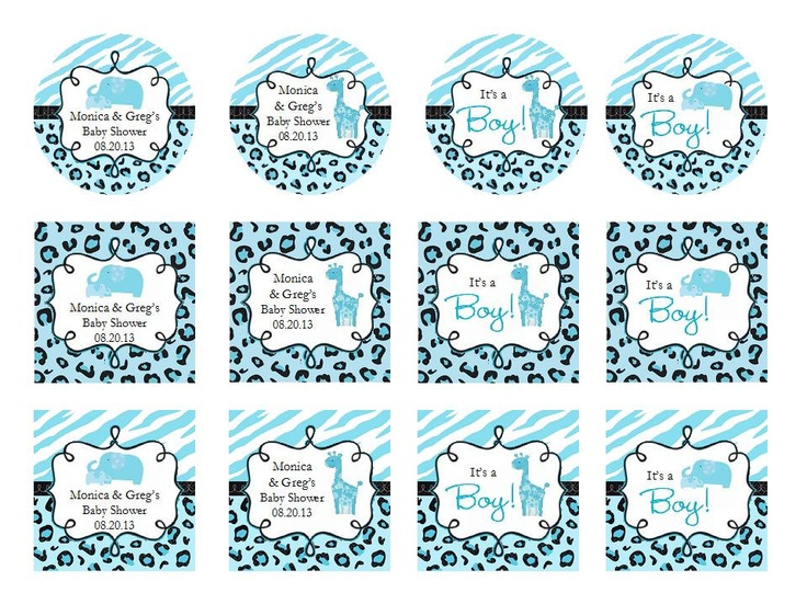 Personalized Wild BLUE SAFARI BOY Baby Shower By Shadow090109, $0.49