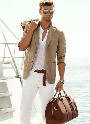 Modern male fashion on a budget! Click here to purchase the sunglasses, jacket, henley, pants, and belt.