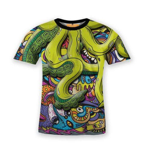 Material+:+ -+Cotton+Blend+(65%+poly,+35%+cotton) -+100%+Polyester+(optional+on+variation) Image+:+Sublime+Printed+High+Resolution Quality+:+Chain+and+Double+Stitches Size+Regular  S+:+69+x+48 M+:+71+x+50 L+:+73+x+52 XL+:+75+x+54 2XL+:+77+x+56 3XL+:+79+x+58+(additional+price+applied) #octopus #animal #fashion #tshirt #t-shirt #cartoon