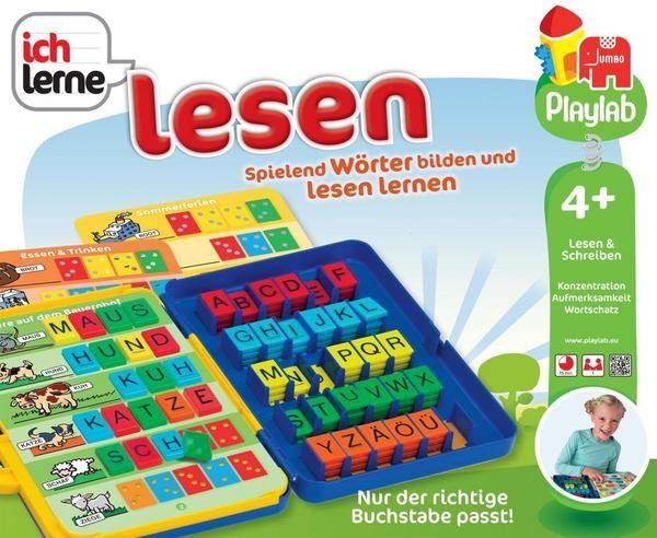 Spielend Wörter bilden und lesen lernen! Anhand von Bildern und vorgegebenen Steckfeldern für die Buchstabenkärtchen kann das Kind dies leicht umsetzen und sich durch die verschiedenen Schwierigkeitsstufen steigern. 30 schön illustrierte Karten sind in dem trendigen Koffer enthalten. So kann das Produkt auch überall problemlos mit hingenommenen werden. <br>Mit der Ich lerne - Produktreihe erlernen Kinder spielend bestimmte Basisfähigkeiten wie lesen, schreiben und zählen! Gespielt werd...
