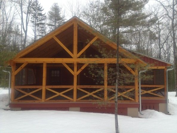 412 best images about log homes and timber frame homes on for Timber frame sunroom addition