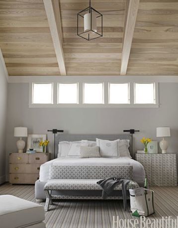 Pay no attention to the bottom, the ceiling is what I love! Gives you a nice break from all the white/greys & I love love vaulted ceilings & this wooden texture is so beautiful!