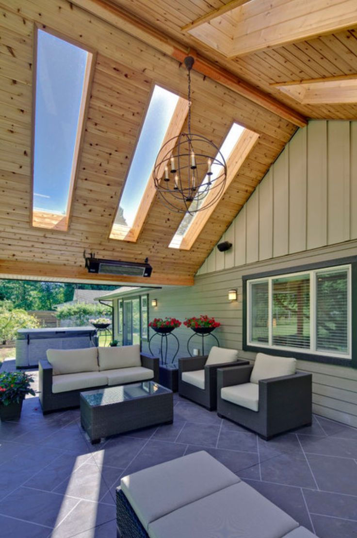 Skylights In Patio Roof Outdoor Room Ideas Pinterest