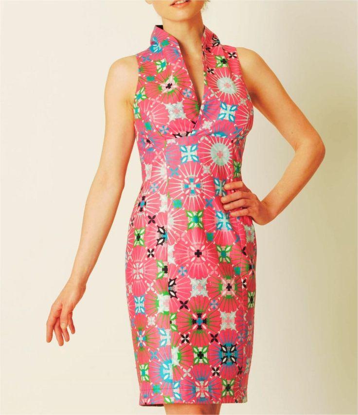 Robe chic / Robe créateur / 100% Coton / Printemps-été / Fait main / Handmade / Rose de la boutique AuContraireMode sur Etsy